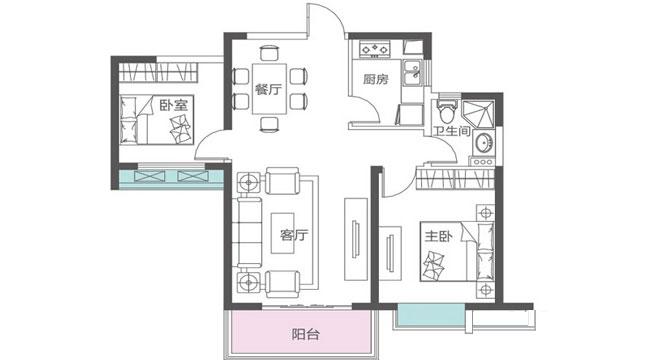 红谷滩新区莱蒙都会110平超级急卖3室2厅110_10