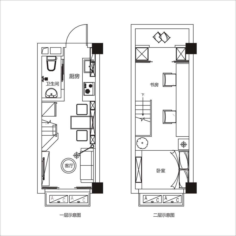 新建区九龙湖武功山大道2069号1室1厅27平米_9